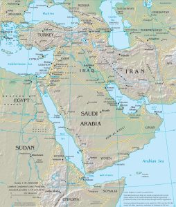 current middle east map