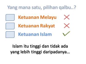 ketuanan Islam pilihanku