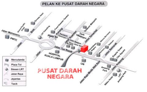 Peta ke Pusat Darah Negara (PDN)
